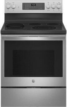 """GE Profile™ 30"""" Smart Free-Standing Electric Convection Fingerprint Resistant Range with No Preheat Air Fry"""