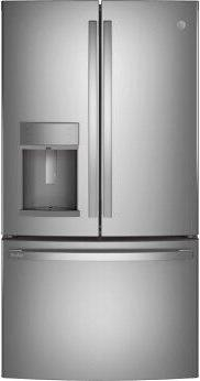 GE Profile™ Series ENERGY STAR™ 22.1 Cu. Ft. Counter-Depth Fingerprint Resistant French-Door Refrigerator with Hands-Free AutoFill