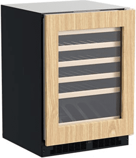 24-In Built-In High-Efficiency Single Zone Wine Refrigerator With Display Rack with Door Style - Panel Ready Frame Glass