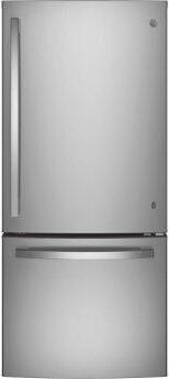 GE™ ENERGY STAR™ 21.0 Cu. Ft. Bottom-Freezer Refrigerator