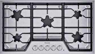 36-Inch Masterpiece(R) Star(R) Burner Gas Cooktop, ExtraLow(R) Select SGSX365TS