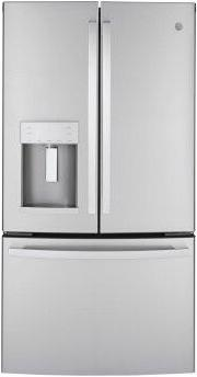 GE™ ENERGY STAR™ 22.1 Cu. Ft. Counter-Depth Fingerprint Resistant French-Door Refrigerator