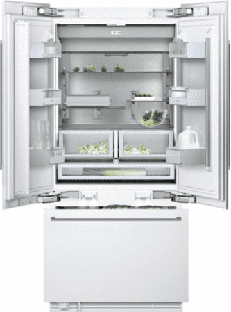 "Three-door bottom freezer with integrated ice maker RY 492 701 with temperature controlled drawer fully integrated Width 36"" (91.4 cm)"