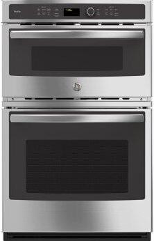 "GE Profile(TM) Series 27"" Built-In Combination Convection Microwave/Convection Wall Oven"