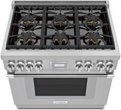 Gas Professional Range 36'' Pro Harmony™ Standard Depth Stainless Steel PRG366WH