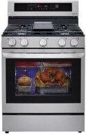 5.8 cu ft. Smart Wi-Fi Enabled True Convection InstaView™ Gas Range with Air Fry