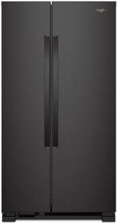 Whirlpool(R) 36-inch Wide Side-by-Side Refrigerator - 25 cu. ft. - Black