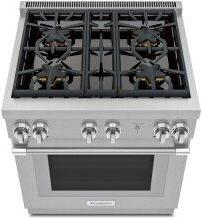 Gas Professional Range 30'' Pro Harmony™ Standard Depth Stainless Steel PRG304WH