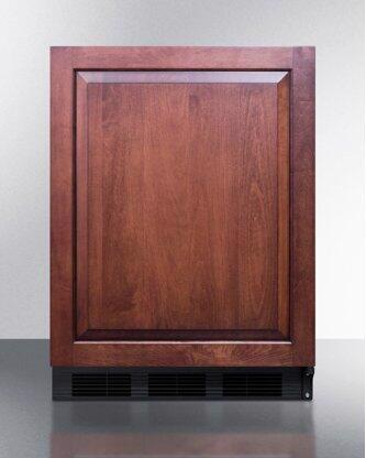 ADA Compliant Built-in Undercounter All-refrigerator for General Purpose/commercial Use, Auto Defrost W/integrated Door Frame for Panels and Black Cabinet