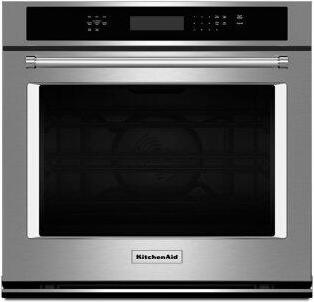"KitchenAid(R) 27"" Single Wall Oven with Even-Heat True Convection - Stainless Steel"