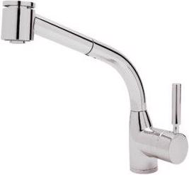 Polished Chrome Modern Lux Side Lever Pull-Out Kitchen Faucet