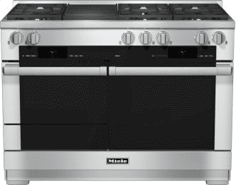 48 inch range Dual Fuel with M Touch controls, Moisture Plus and M Pro dual stacked burners